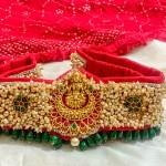 Lakshmi pearl red