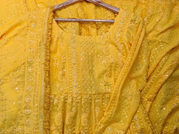 YellowChikankari-1