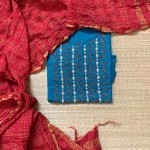 Blue and Red Cotton Suit Set
