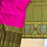 Green pattu by Cotton