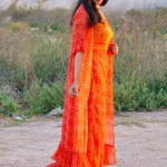 Red & Orange Bandhini