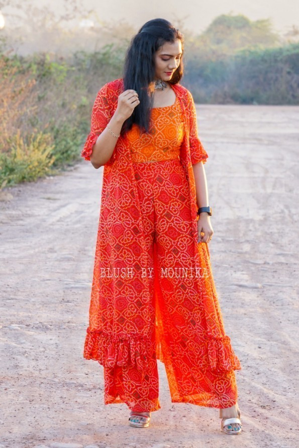 Red & Orange Bandhini-2