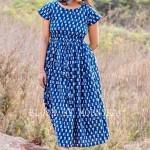 Indigo Midi Dress