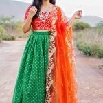 Green Chanderi