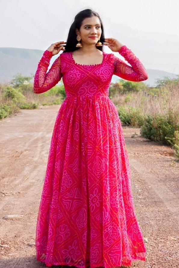 Pink Bandhini